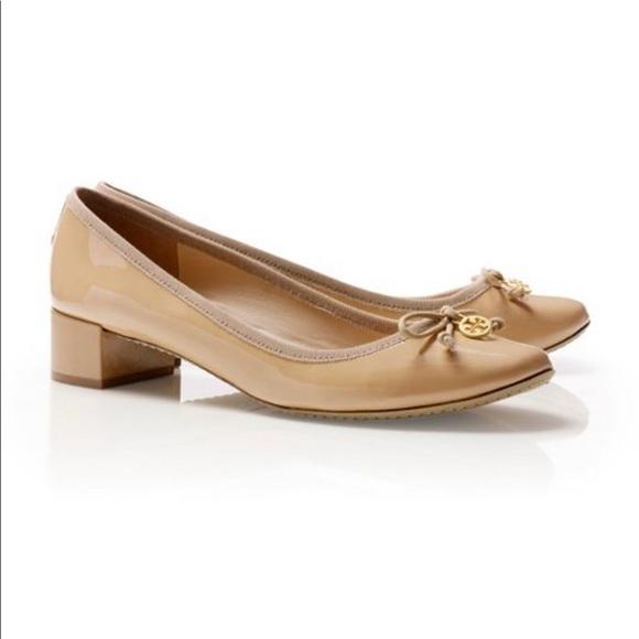 01acca1018 Tory Burch Shoes | Chelsea Ballerina Nude Sz 6 Low Heel | Poshmark